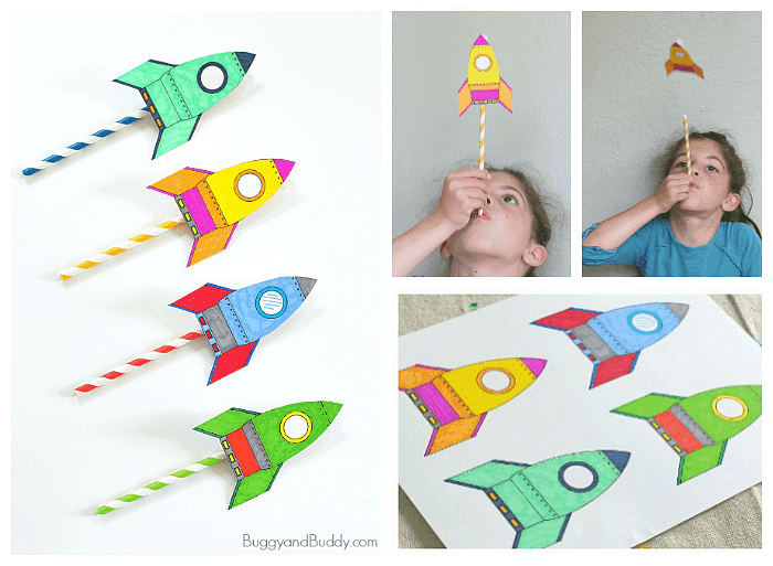 straw rockets craft