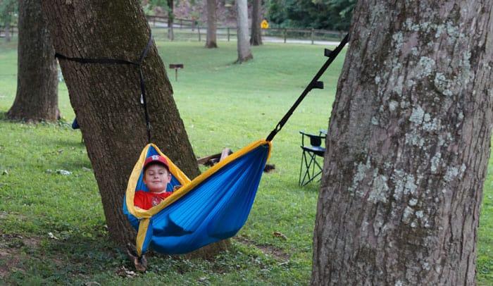 Meramec Caverns camping trip hammock
