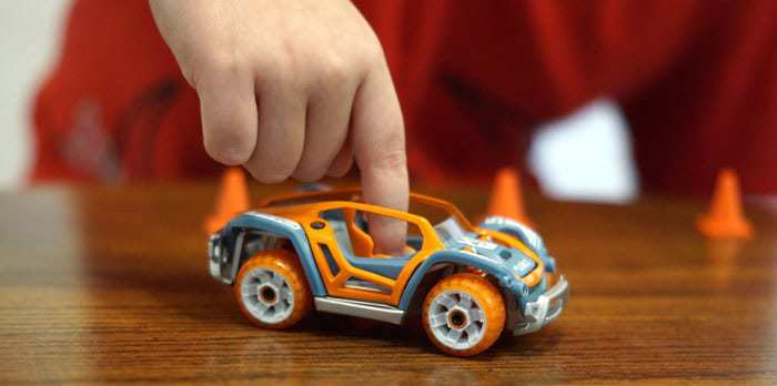 Modarri cars can be driven with your finger and has real working suspension and steering.