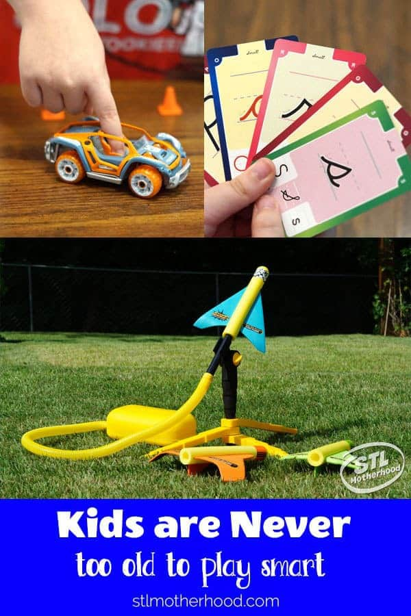 STEM toys, plane launcher, cards, buildable car