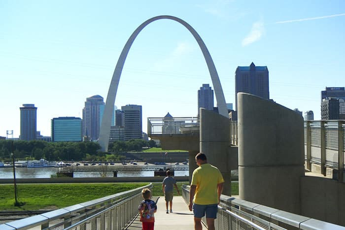 Malcolm Martin Park to see the Arch