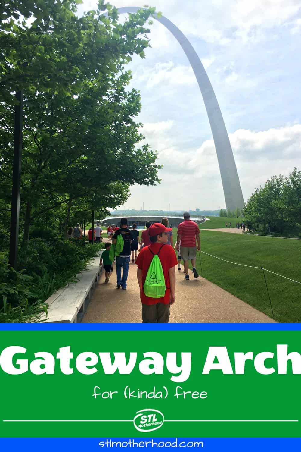 gateway arch with people walking to it