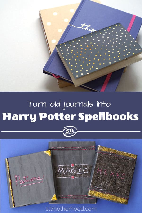 Turn old boring journals into spooky fun Wizard Textbooks! Great for Harry Potter fans or Halloween decor.