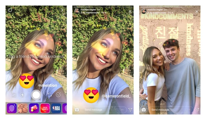 Instagram kindness effect