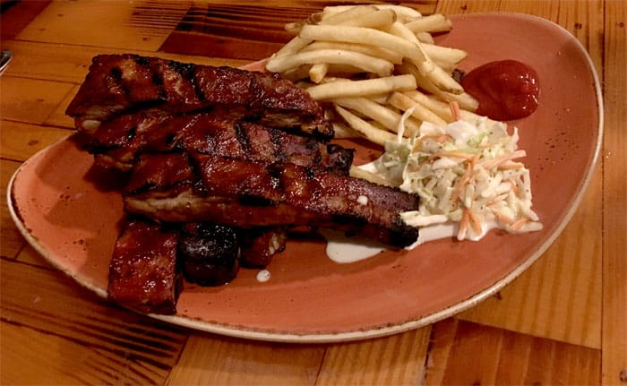 camp critter bar and grille ribs