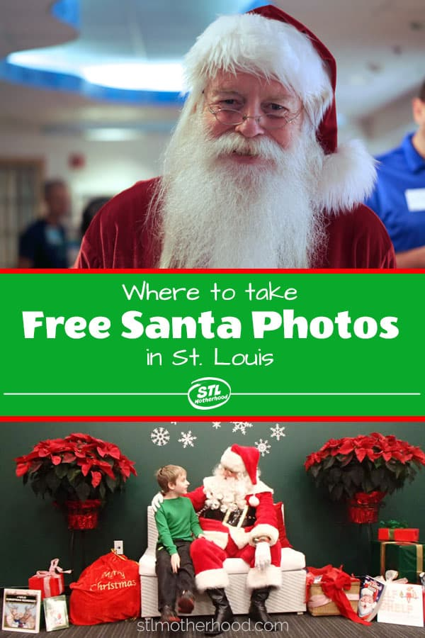 Where can you take free Christmas photos with Santa in St. Louis? Here's a great list!