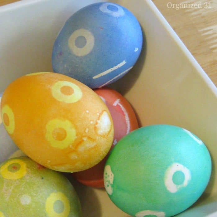 easy polka dot eggs