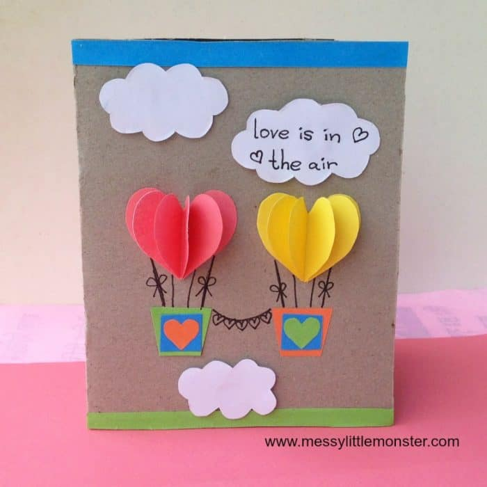 heart air balloons card