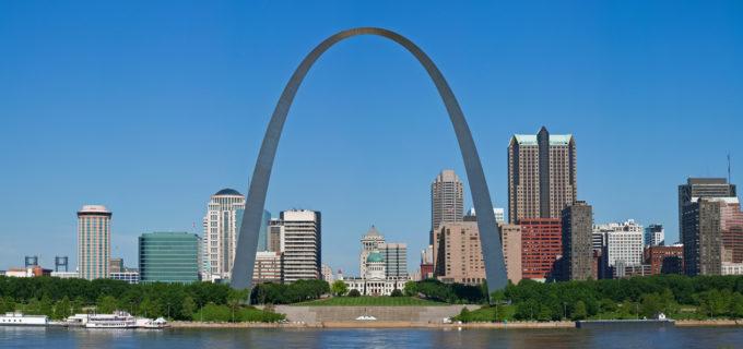St. Louis skyline with Gateway Arch