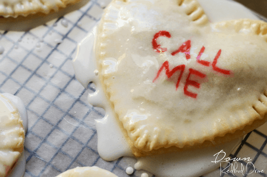conversations heart hand pies