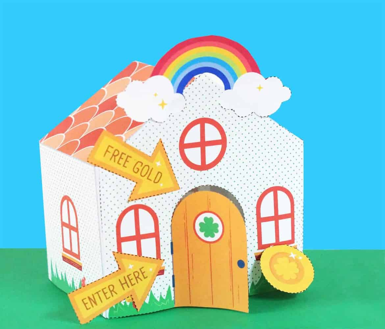 paper house for a leprechaun