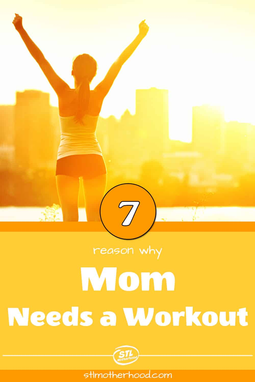 mom runner raising arms at sunrise