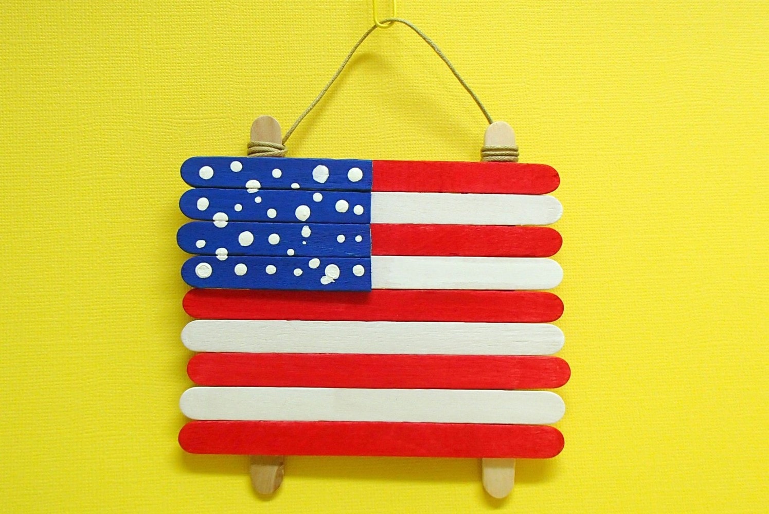 flag made from popsicle sticks