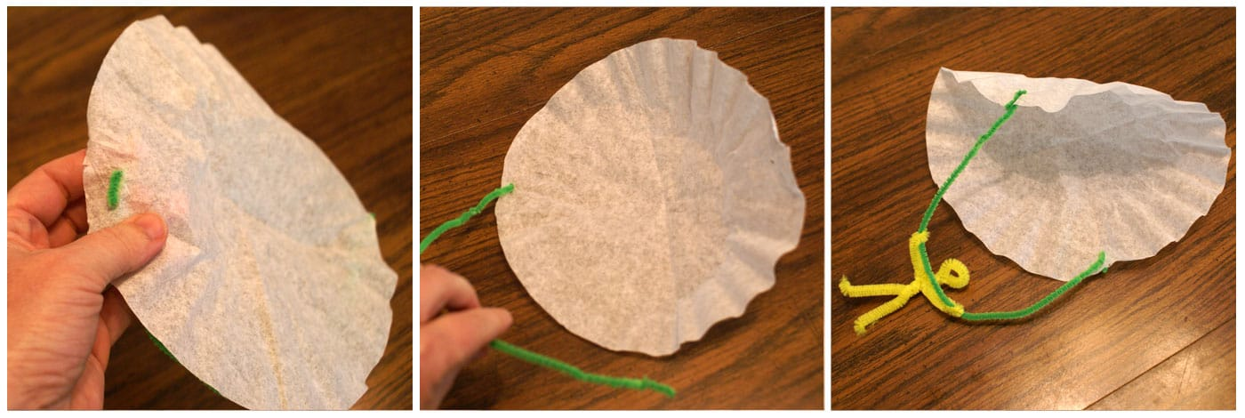 how to make a parachute from a coffee filter