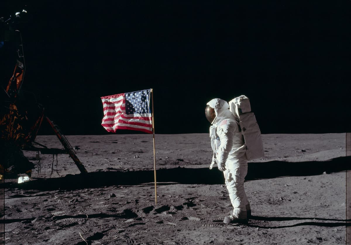 Apollo 11 man on the moon from NASA