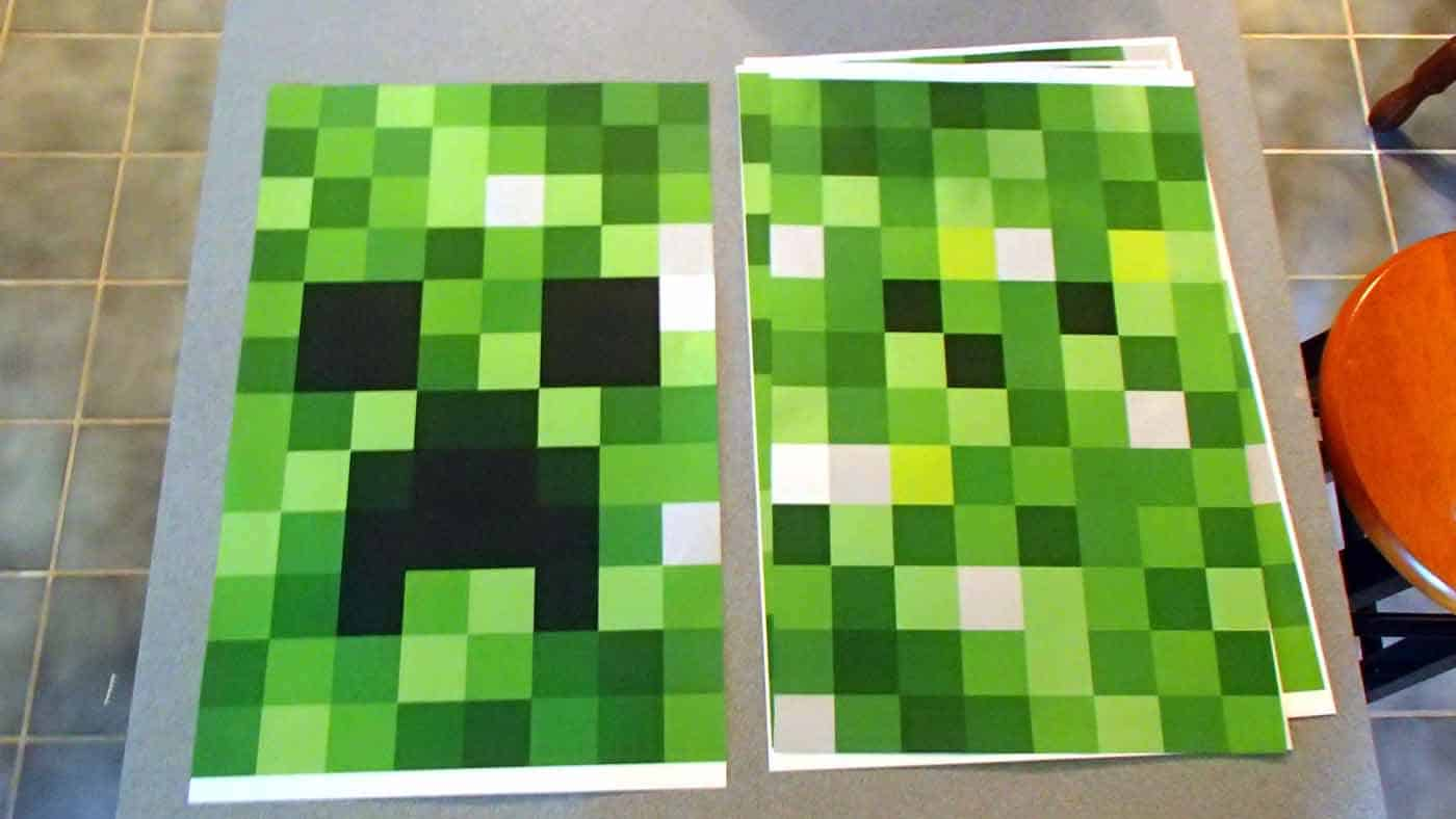 creeper pattern paper