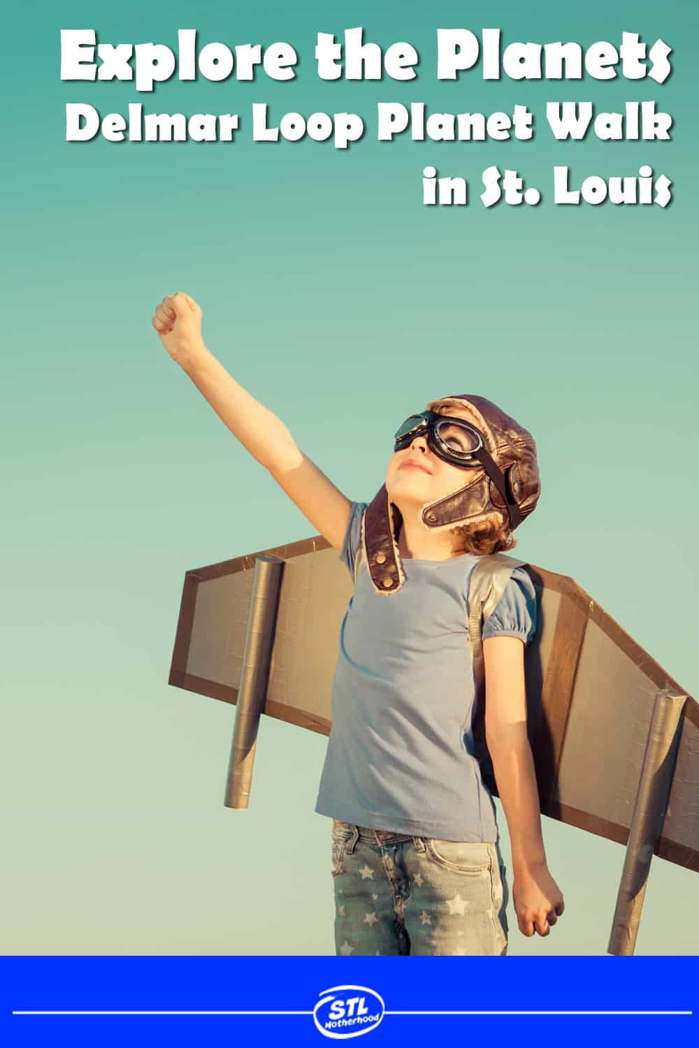 Explore the Planets with your kids while strolling the Delmar Loop in St. Louis -- one of the best streets in America! 1/2 mile walk with lots of food and ice cream shops along the way. #STEM #stlouis #family