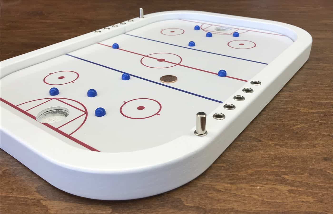 table top penny hockey board game