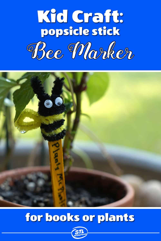 bee garden plant marker