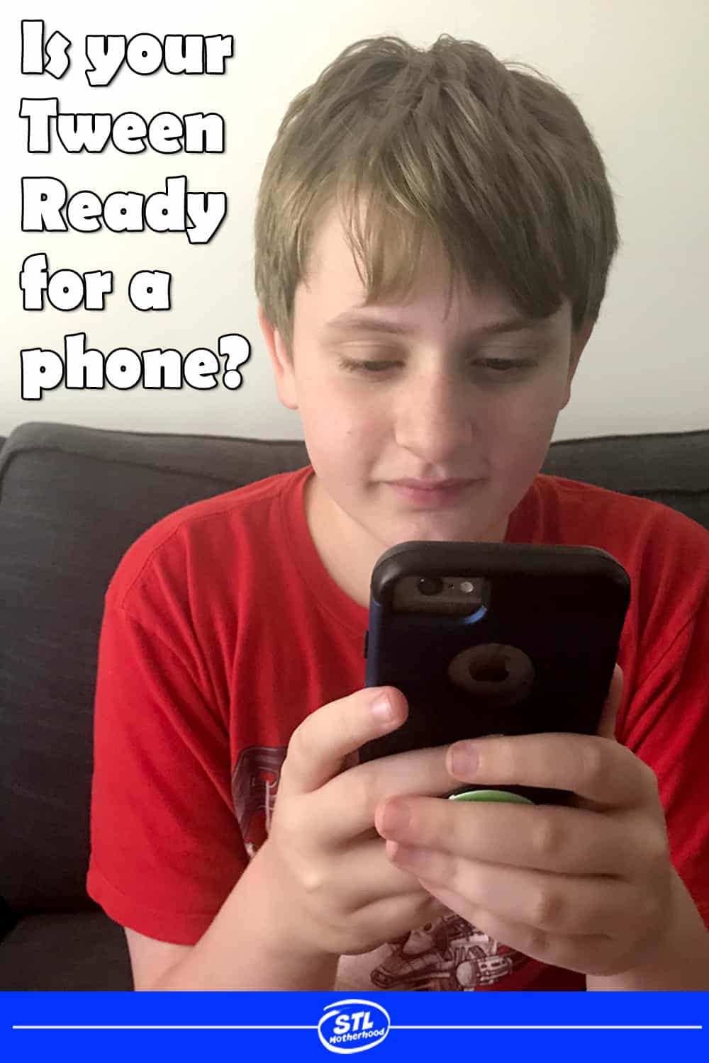 Is your tween kid ready for a smart phone? We're getting my 12 year old his first iphone! Yes, we waited until he really needed to be mobile. Plus tips for St. Louis moms on where to find the best deal on first phone. #iphone #firstphone