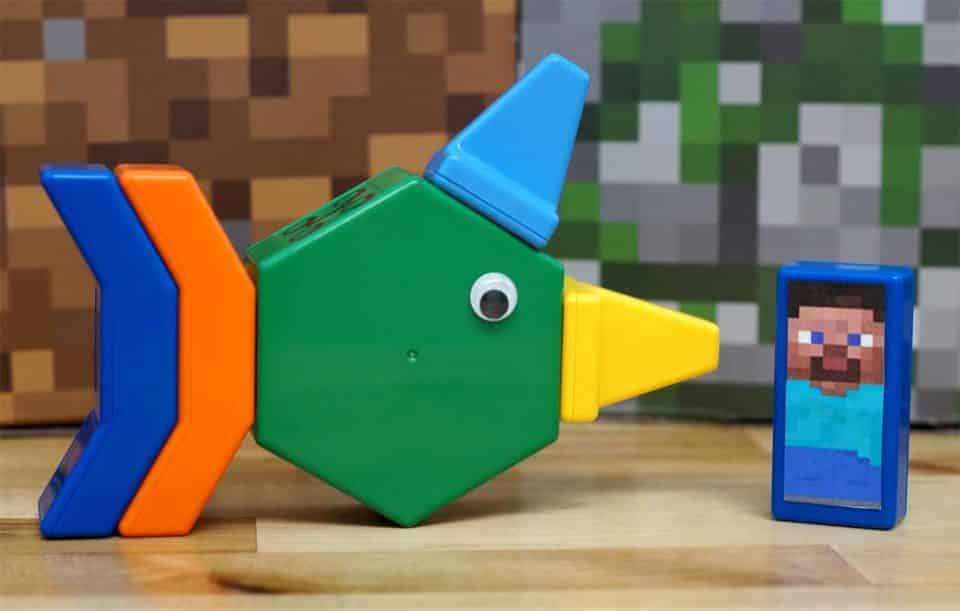 colorful plastic blocks with magnets inside