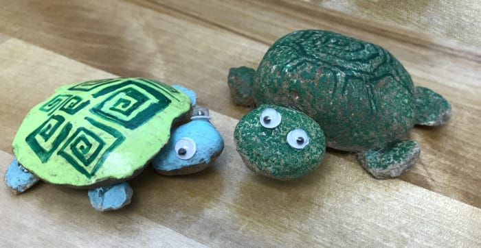 turtles made of painted rocks