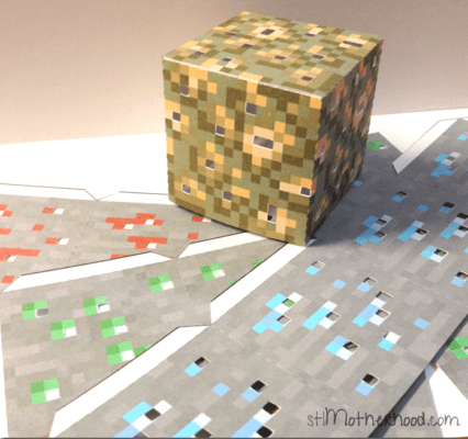 This is a picture of Minecraft Blocks Printable with regard to wood