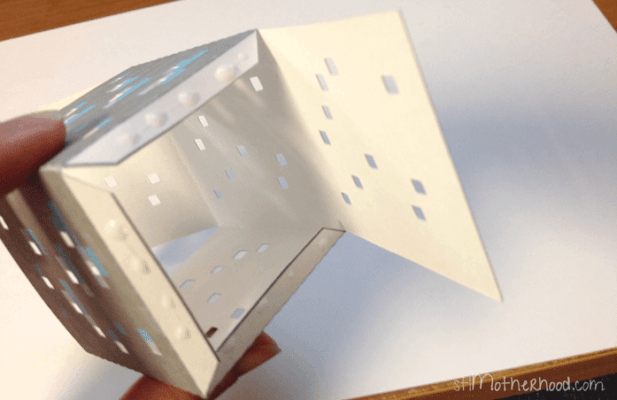 paper minecraft block on the inside