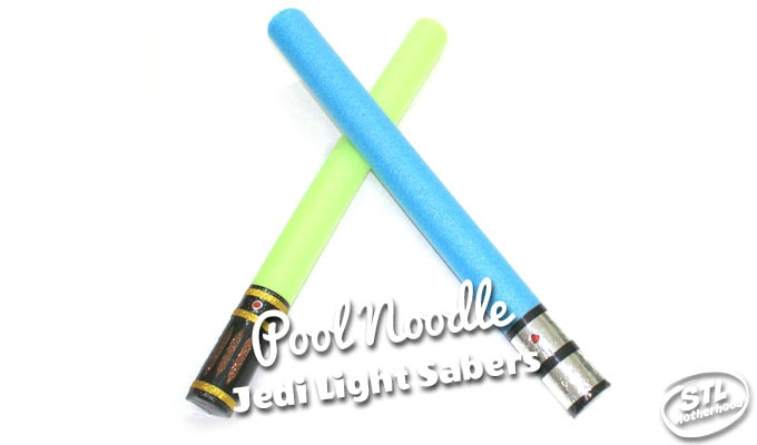 light saber toy made from a pool noodle