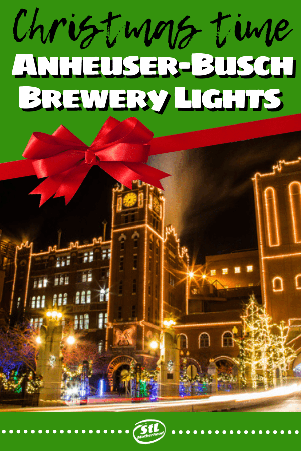 Visit the Anheuser-Busch Brewery in St. Louis for the most wonderful Holiday lights in town! The tour is free, but VIP packages make it extra special. Read all the details!! #ChristmasLights #holiday