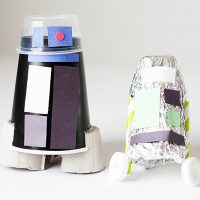 DIY Recycled Droid Craft