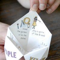 Wedding Game Paper Fortune Teller