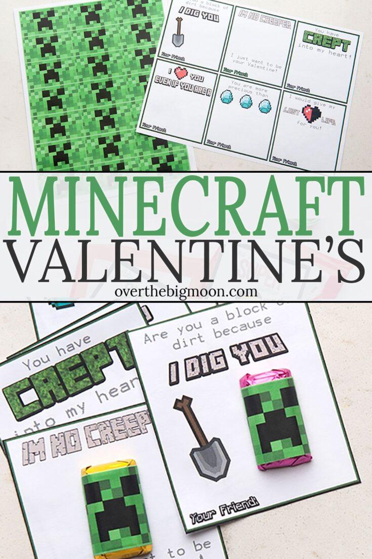 Minecraft Valentine's Printables