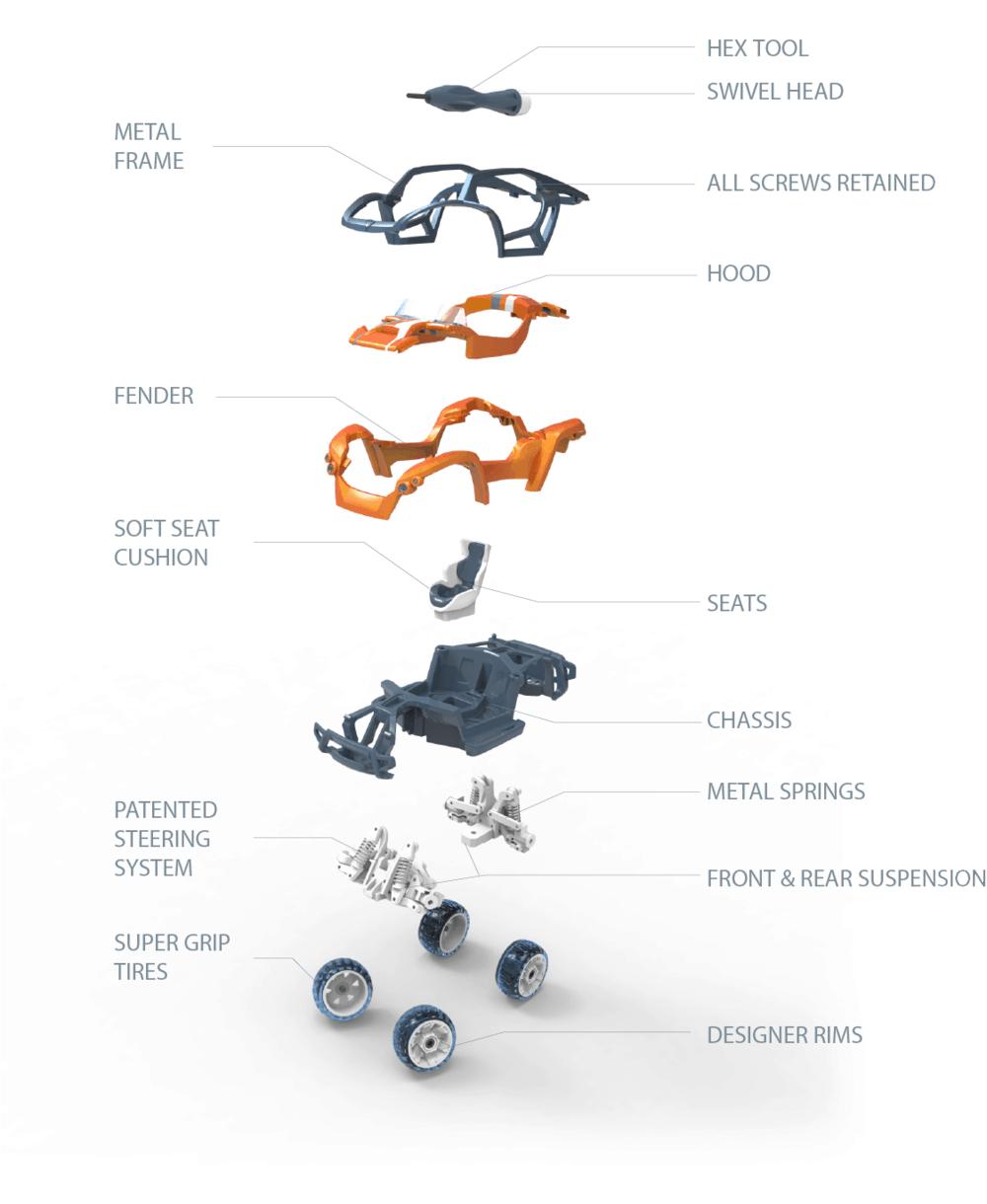parts of a Modarri car