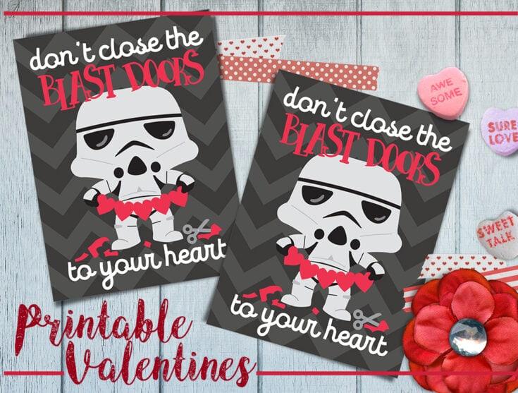 Printable Star Wars Valentine's Day Cards
