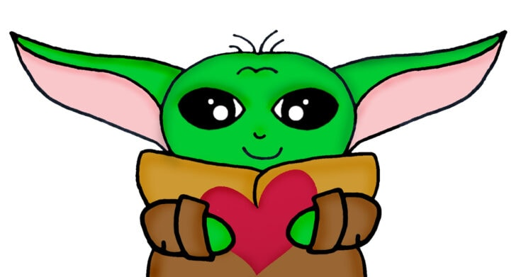 Free Printable Baby Yoda Valentine's for Your Kid's Class