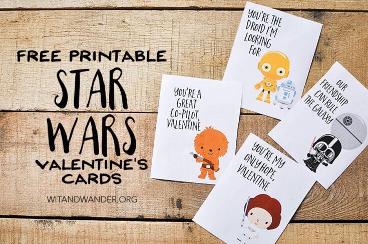 Star Wars Valentine's Day Cards for Kids