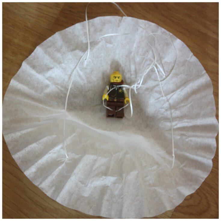 Coffee Filter Parachute Lego Minifigure