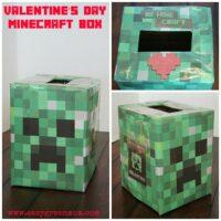 Easy Minecraft Creeper Valentine's Day Box