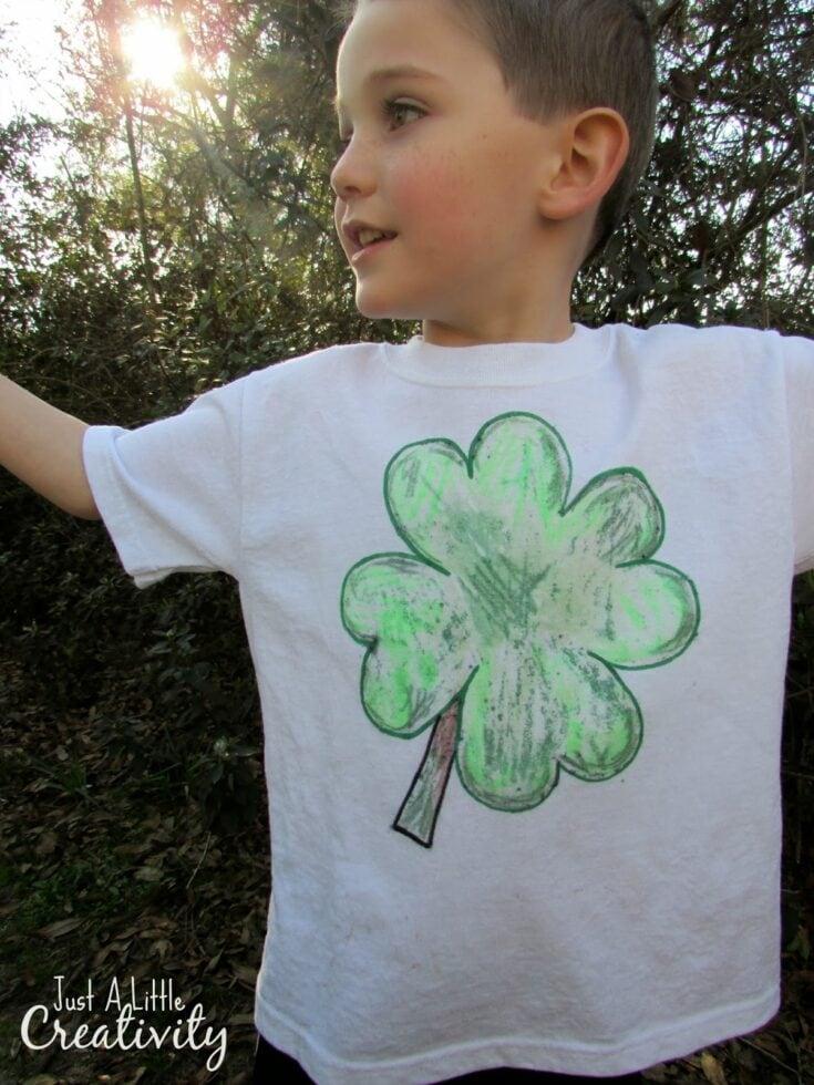 Make a St. Patrick's Day Shamrock Shirt