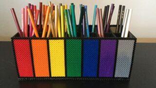 Perler Bead Colorful Crayon & Pencil Holder