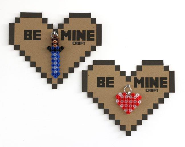 Perler Minecraft Valentine