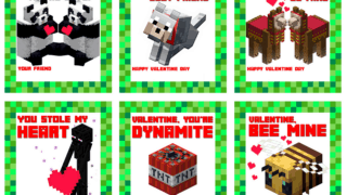 New MOBS: Awesome FREE Minecraft Valentine's Cards for Kids