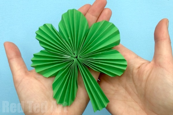 Paper Fan Shamrock Decorations