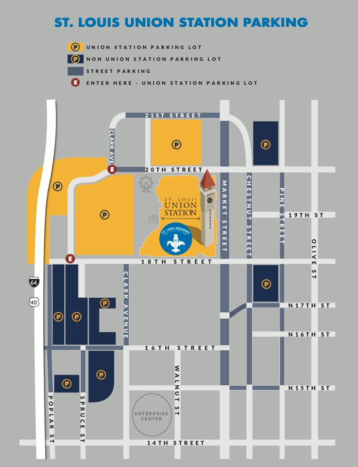 Map of the parking at Union Station St. Louis