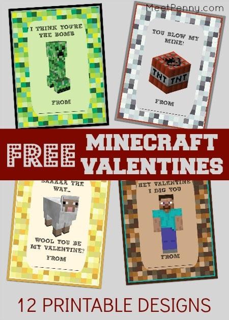 Free Printable MinecraftValentines!