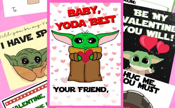 baby yoda valentine cards