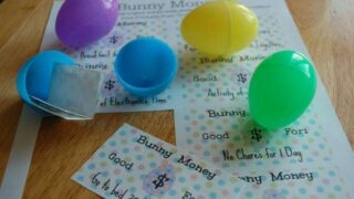 Easter Egg Bunny Money Printable