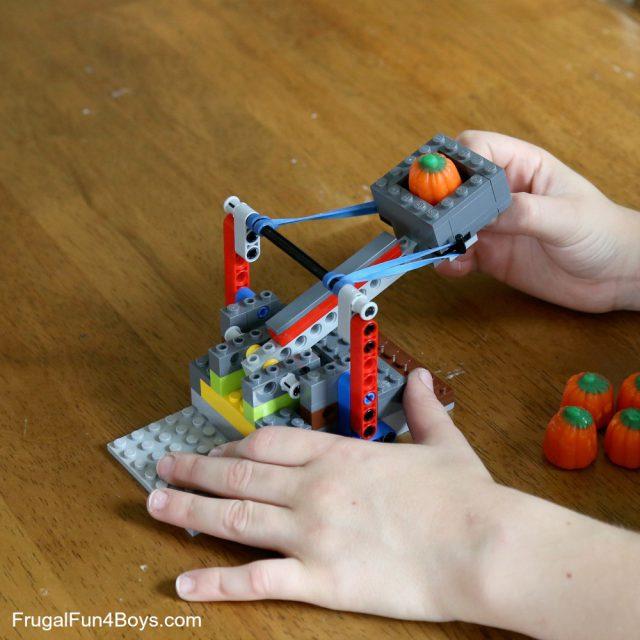 Catapult with LEGO Bricks