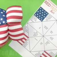 American Flag Cootie Catcher Printable - Red Ted Art